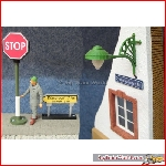 Prehm-Miniaturen_510530 - Signpost with lighting, right - new 2016