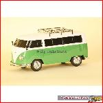 Prehm-Miniaturen 530003 - VW Bus T1, FM radio, mp3, lighting - Green - 1:22,5