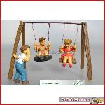 Prehm-Miniaturen 550111 - Kinder 3 Figuren, Schaukel Set 1