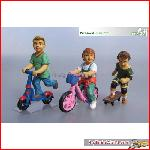 Prehm-Miniaturen 550112 - Kinder 3 Figuren Dreirad Set 2