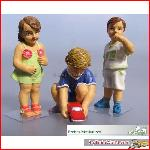 Prehm-Miniaturen 550113 - Kinder 3 Figuren  Set 3