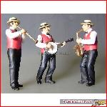Prehm 550133 Dixieland music band, 3 musicians | Big Train World