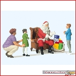 Preiser 44931 - 1:22,5 Santa sitting in chair, Mother & Childeren - New 2018