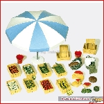 Preiser 45207 - 1:22½ Accessory set for market. construction kit