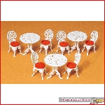 Preiser 45209 - 1:22½ Tables. Chairs. construction kit