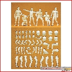 Preiser 45900 - 1:22½ Model Figure Adam. 6 unpainted, kit