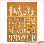 Preiser 45901 - 1:22½ Model figure, Eva, 6 unpainted model figures, kit