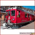 Pullman 30130 - RhB Railcar ABe 4/4 II #43, Silber striping, coat of arms