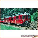 Pullman 30132 - RhB Railcar ABe 4/4 II, #42, Golden striping, RhB logo