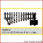 Train Line45  1040952 - Electric/DCC switch, left, nickel plated