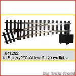 Train Line45  1041252 - Electric/DCC switch, left, nickel plated