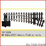 Train Line45  1041262 - Electric/DCC switch, right, nickel plated