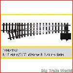 Train Line45  1042152 - Electric/DCC switch, left, nickel plated