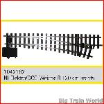 Train Line45  1042162 - Electric/DCC switch, right, nickel plated