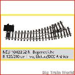 Train Line45  1042252 - Electric/DCC switch, left, nickel plated