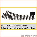 Train Line45  1042262 - Electric/DCC switch, right, nickel plated