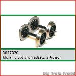 Train Line45  3067320 -  V-spoked metal wheels, 2pcs.