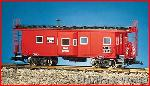 USA Trains R12054 - BURLINGTON ROUTE BAYWINDOW CABRED/BLACK