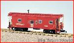 USA Trains R12075 - SEABOARD BAYWINDOW CAB - RED