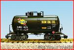 USA Trains R15207 - SUNOCO. 29'BEER CAN TANK-BLACK