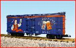 USA Trains R16341 - SAM ADAMS SEASONAL BREW-BLUEORANGE