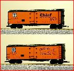 USA Trains R16500 - S.F. THE CHIEF 40' REEFER-O/BL