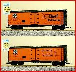 USA Trains R16501 - S.F. THE SUPER CHIEF 40' REEFEORANGE/BLACK