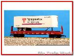 USA Trains R17017 - TRANSAMERICA  WHITE W/RED OX.
