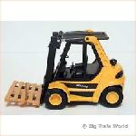 Welly 4482Y - Fork Lift Truck Yellow